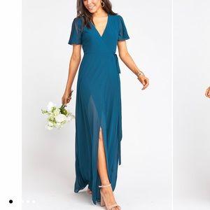 NWT Show Me Your Mumu Noelle Flutter Wrap Dress L